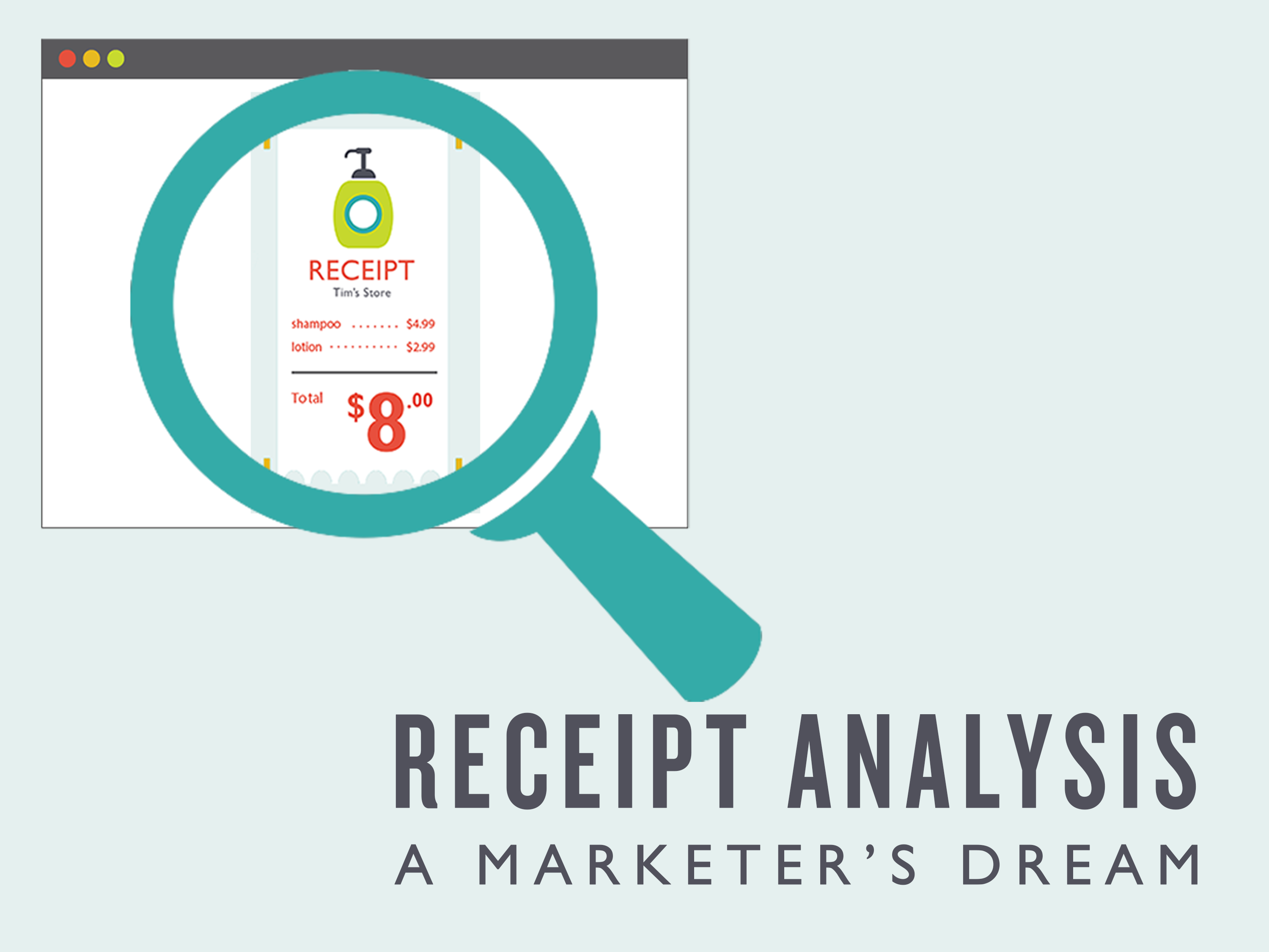 Receipt Analysis Infographic - Cover
